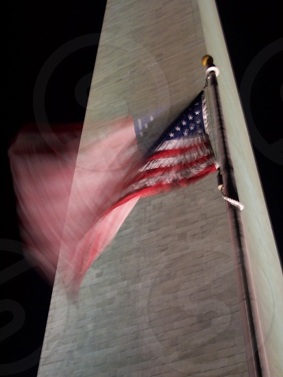 Washington monument flag photo