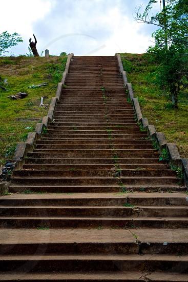 Stairway to heaven.  Anuradhapura  Sri Lanka.  photo