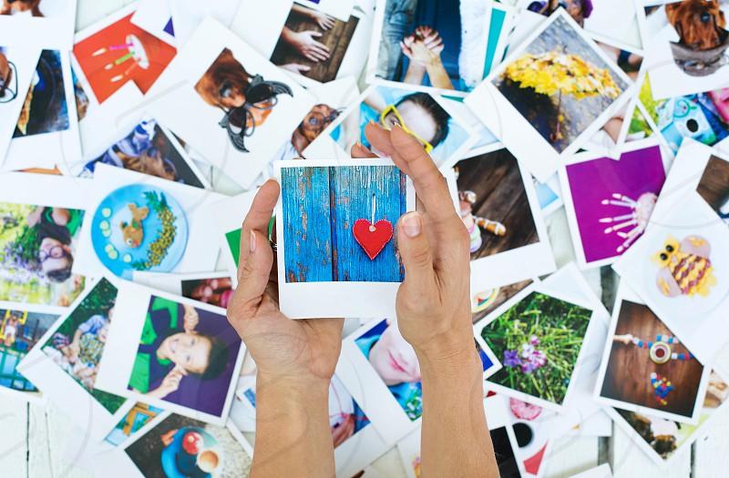 Polaroid photo for memory love joy life photo