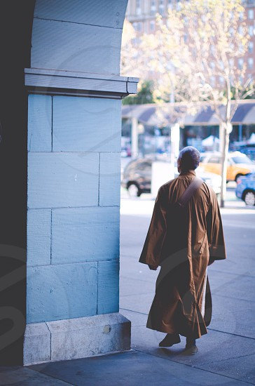 monk's yellow robe photo