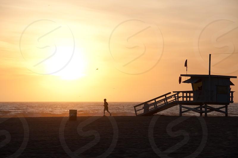 California beach run. photo