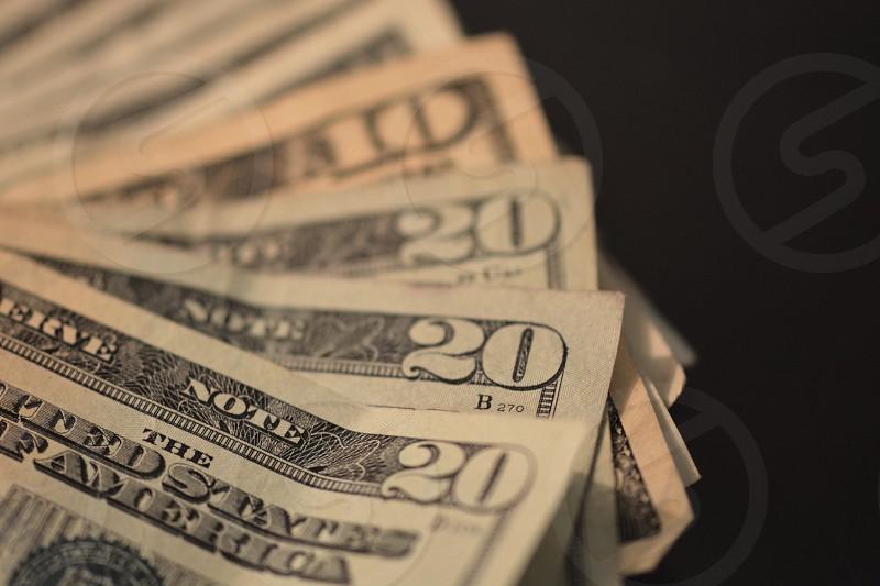 70 us dollar bills photo