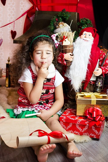 Amazing time letter for santa happy new love girl photo