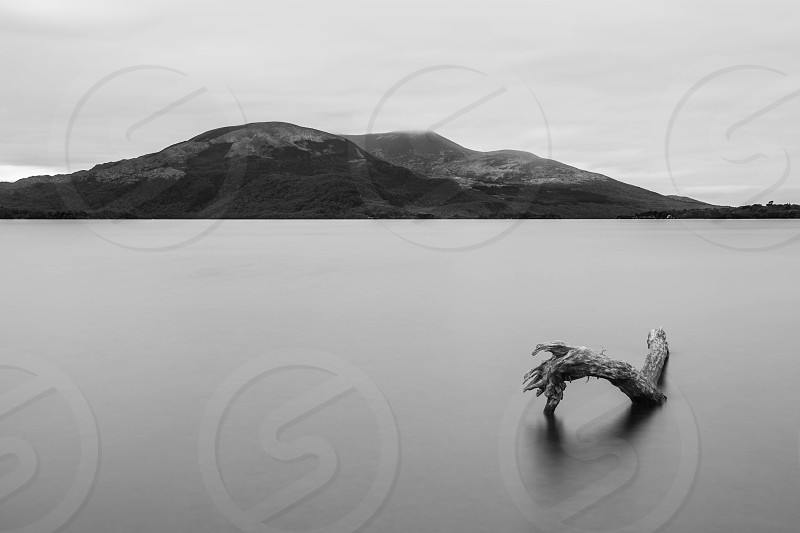 Lough Leane Killarney Ireland. Black and White photo