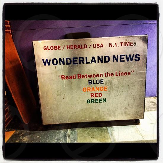 Wonderland - Found in the Boston Subway photo