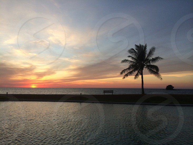 Sunset. The Empire Hotel and Country. Brunei.  photo