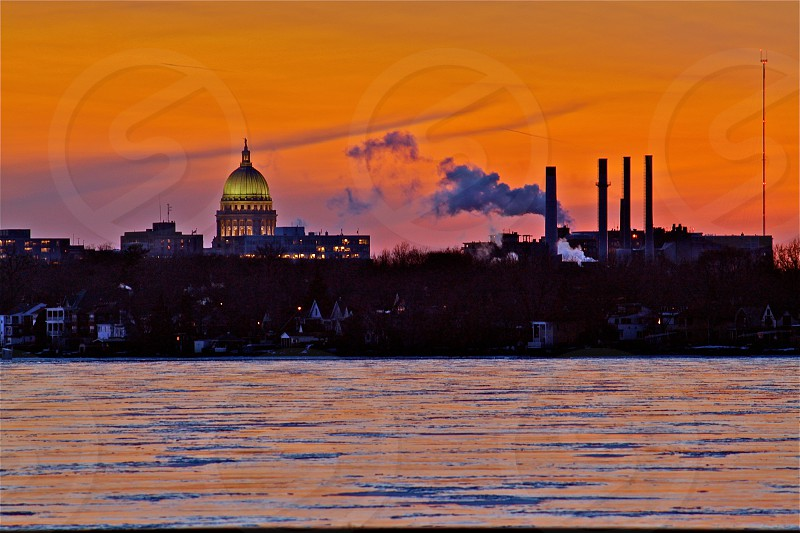 green and brown dome building photography during sunset photo