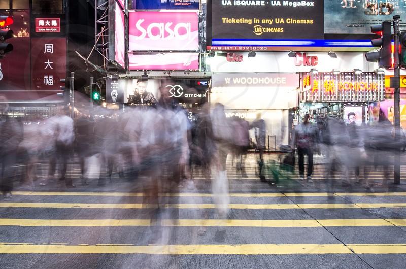 Rushing by in Hong Kong photo