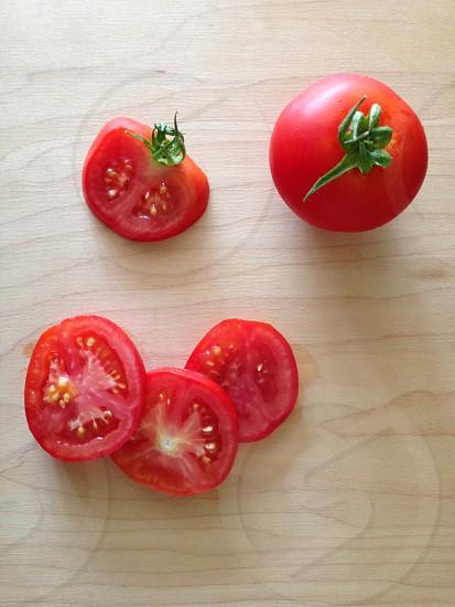 red cherry tomatoes photo