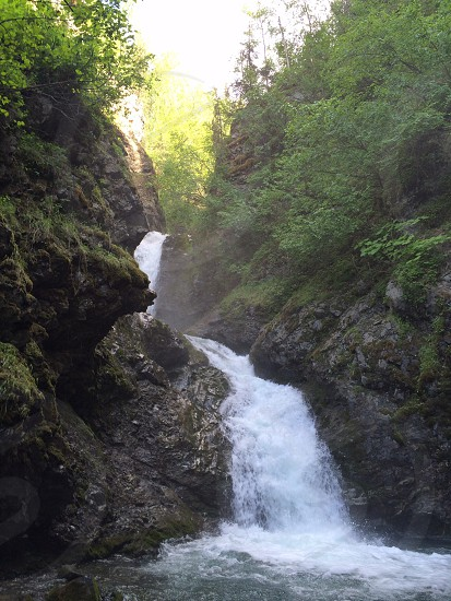 Thunderbird Falls Alaska waterfall photo