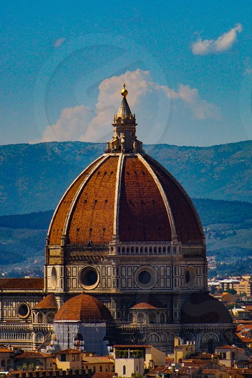 Florence Duomo closeup seen from Piazzale Michelangelo  photo