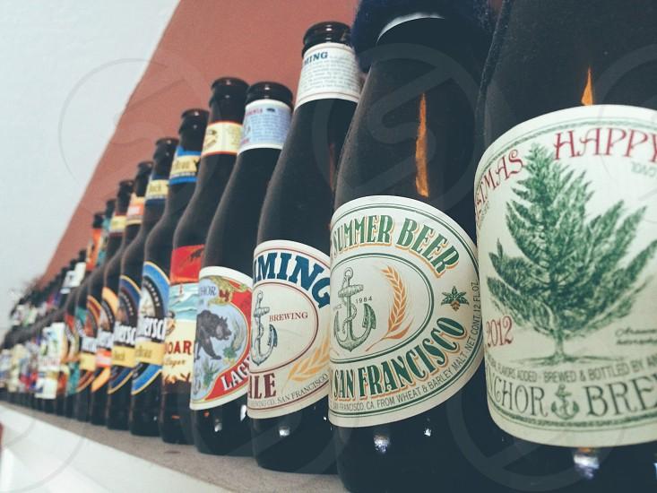 bottles on display photo