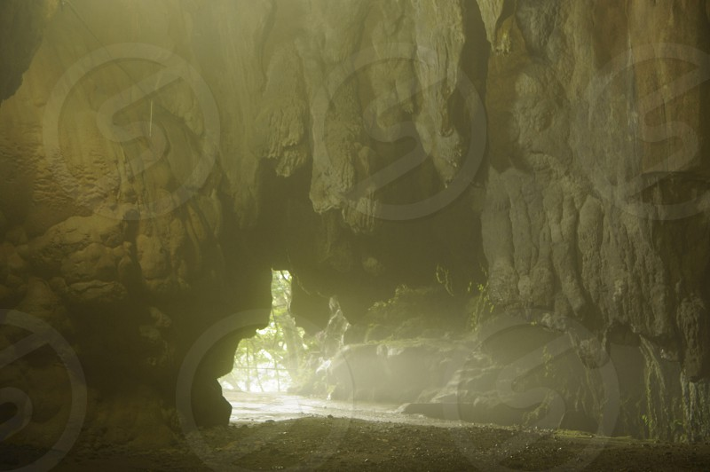light coming from the end of cave photo