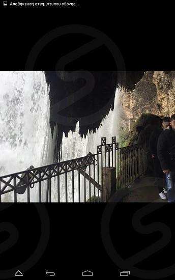 waterfall Greece winter photo