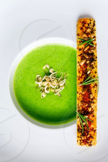 Green soup Brot photo
