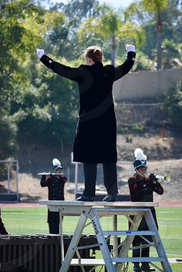 marching band conductor photo