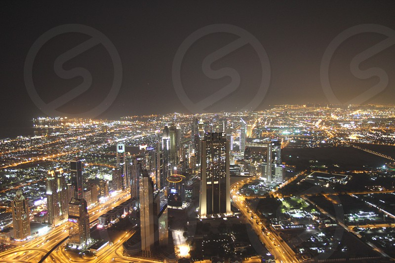 Dubai from Burj Khalifa photo