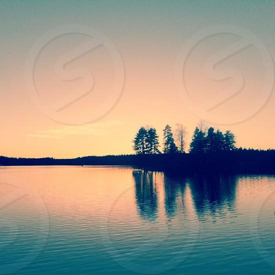 island silhouette photo photo