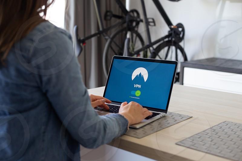 VPN application shown on portable computer photo