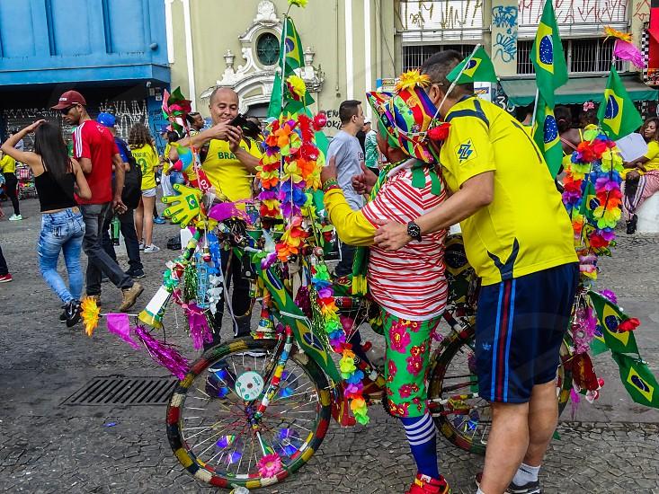 Soccer fans São Paulo SP Brazil photo