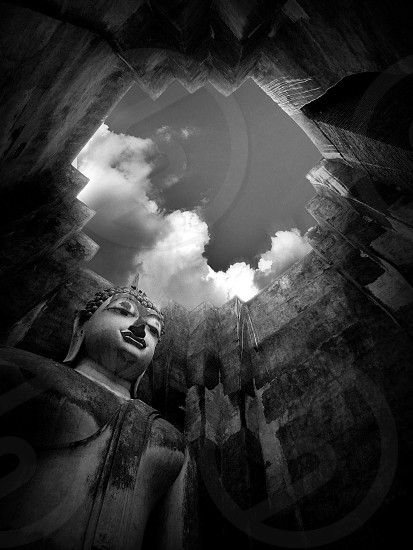 Buddha image in Sukhothai Province UNESCO World Heritage Site in Thailand photo