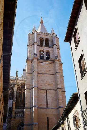 Cathedral of Leon in Castilla at Spain photo