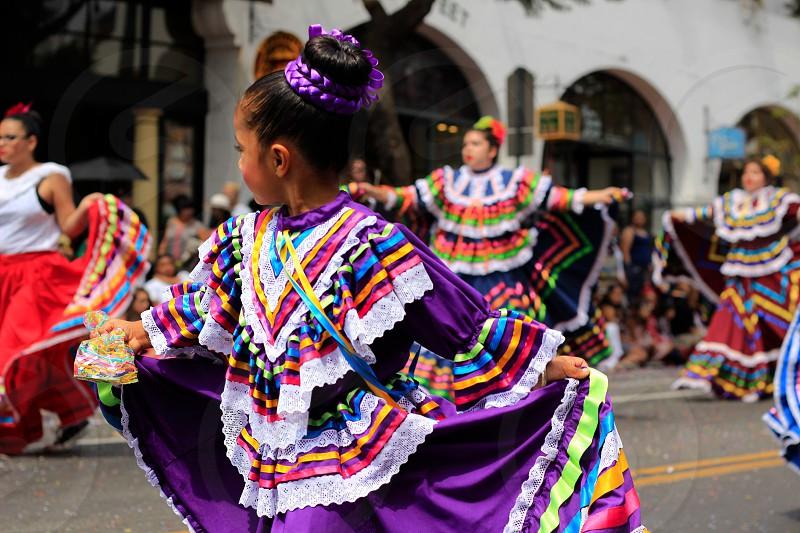 Fiesta California Santa Barbara parade dancing  photo