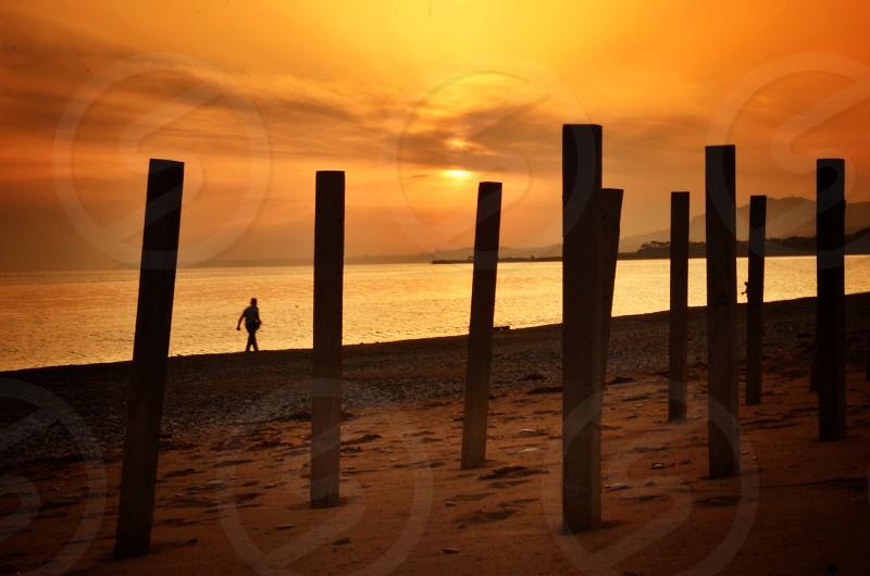 beach sunset photo photo
