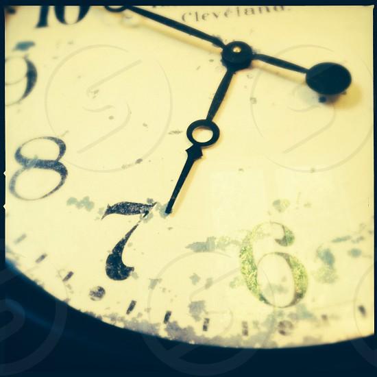 Wall clock - close up photo