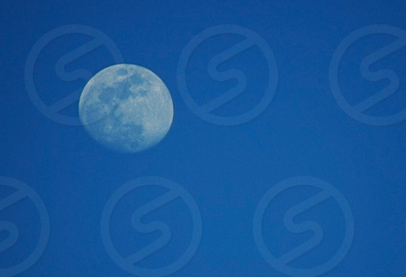 Moon in the sky during the day photo