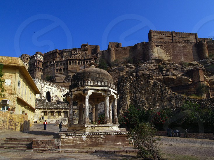 Mehrangarh (Mehran Fort) one of the largest forts in India located in Jodhpur Rajasthan. photo