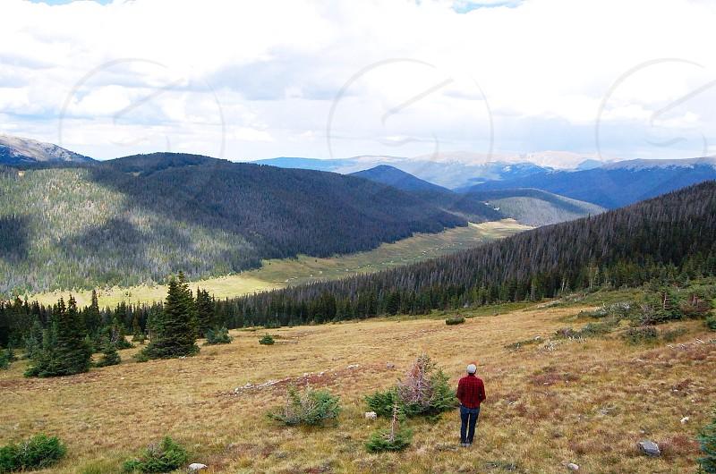 mountain range view photography photo