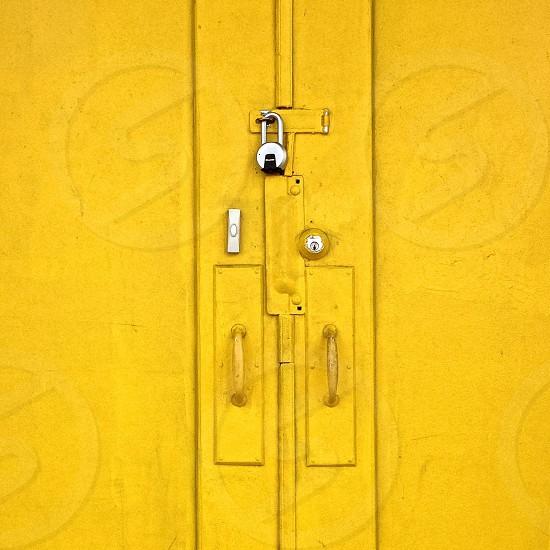 Yellow doors photo
