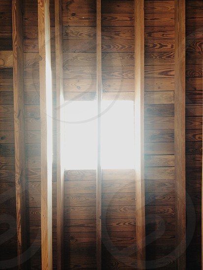 skylight in wood beam ceiling photo