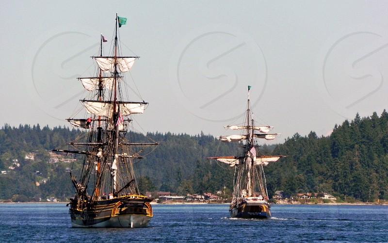 Tall Ships In Bremerton Harbor photo