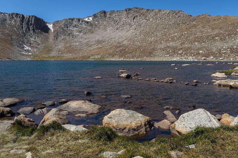 Views around the Mt. Evans summit lake in Colorado photo