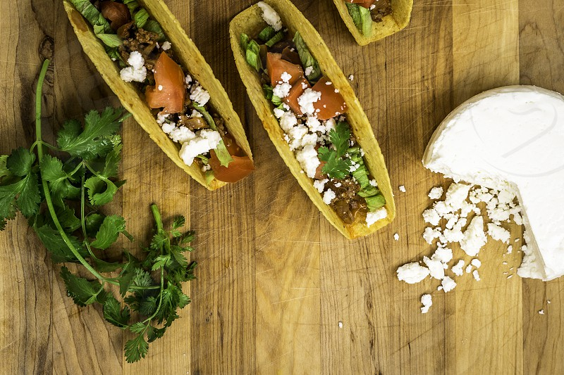 tacos with queso fresca photo