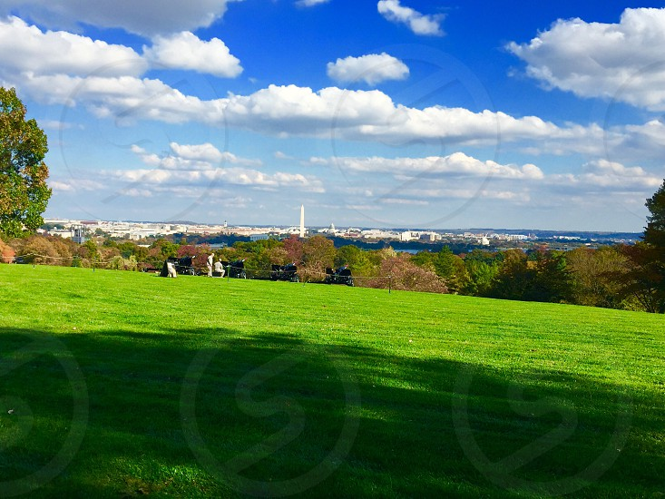 Whipple Field on Fort Myer overlooking Washington D.C.. photo