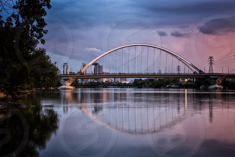 Lowry Avenue Bridge Minneapolis Minnesota. photo