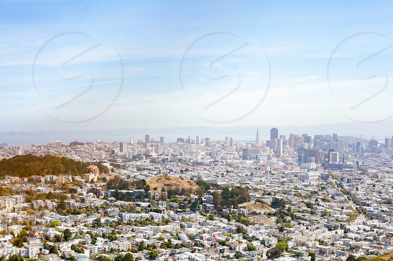 View of SF from above photo