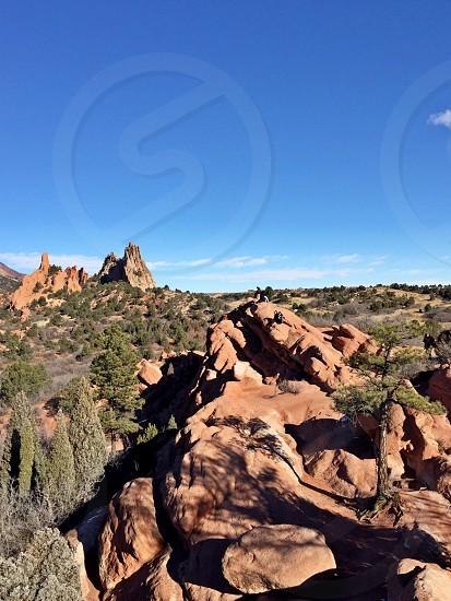 brown rock outcroppings photo