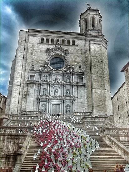 gothic cathedral Girona photo