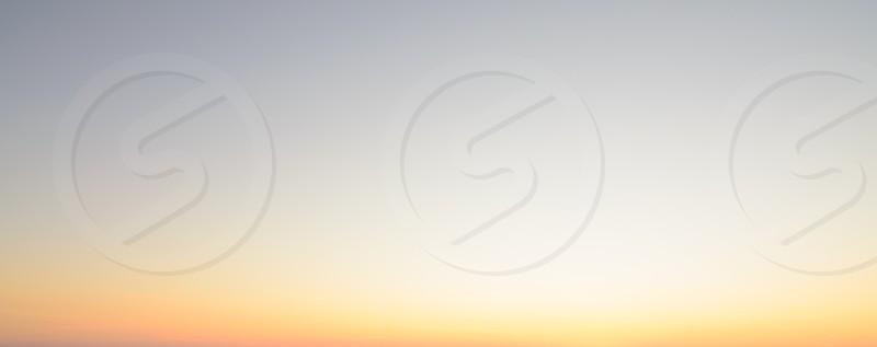 A sunrise sky gradient. photo