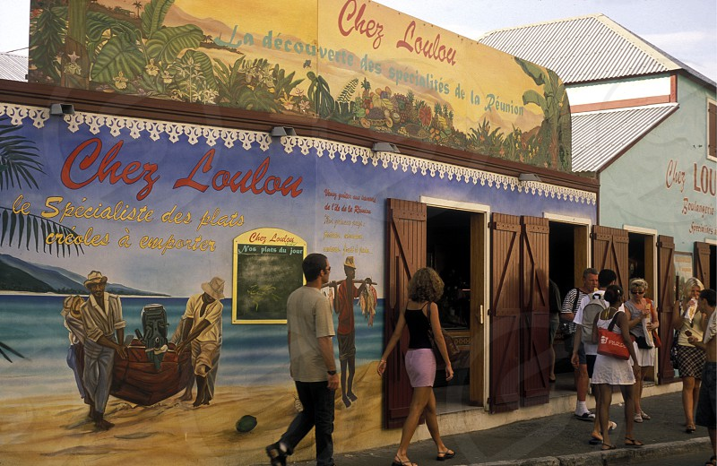 the backery Chz LouLou in  St Gilles les Bains on the Island of La Reunion in the Indian Ocean in Africa. photo
