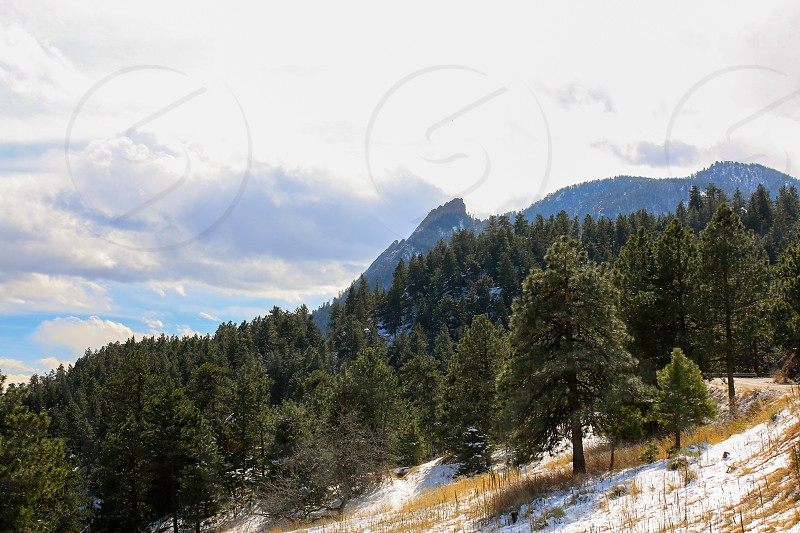 Viewpoint from Flagstaff mountain scenic overlook in Boulder Colorado photo