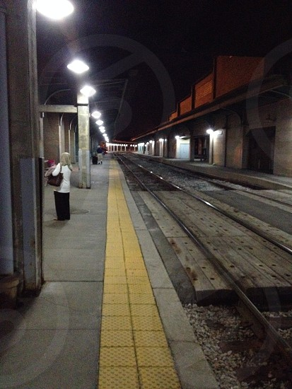 Waiting for the Amtrak Capitol Limited in Toledo at 2 am in the morning. photo
