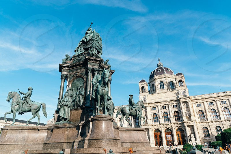 Maria Theresien Platz is a large public square with the Natural History Museum and Art History Museum photo