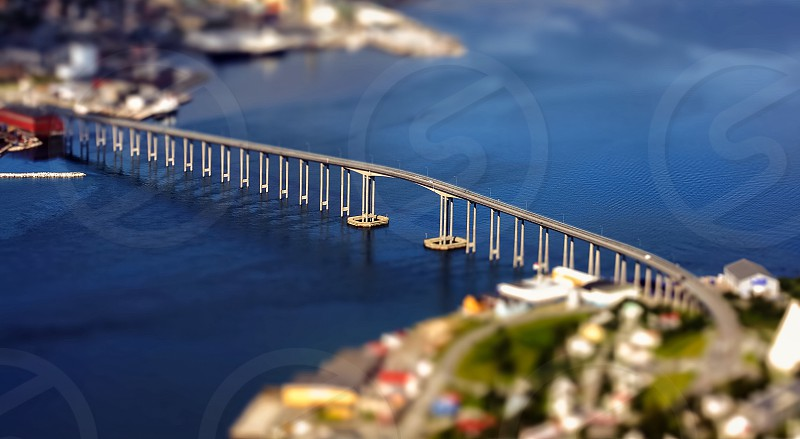 Beautiful bridge in Tromso Norway photo