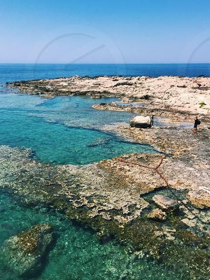 Water Greece Greek islands tourists sea ocean blue photo