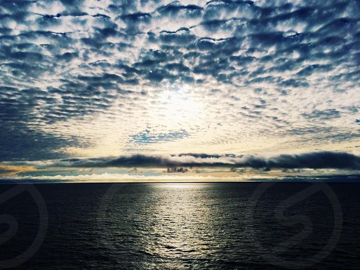 ocean view at sunrise photo